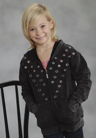 ROPER GIRLS  FIVE STAR MIDNIGHT COWGIRL JACKET ZIPPER CLOSURE - 2 POCKET