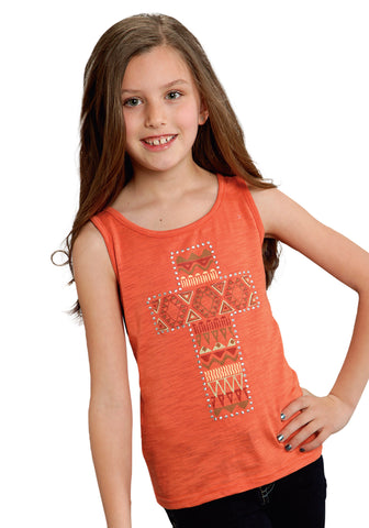 ROPER GIRLS  FIVE STAR TUPELO HONEY SLEEVELESS SHIRT PULLOVER CLOSURE