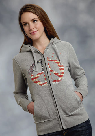 ROPER LADIES  AMERICANA AMERICANA JACKET PULLOVER CLOSURE - 2 POCKET
