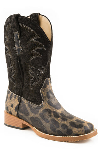 ROPER LADIES  BOOT WESTERN SQTOE FAUX LEATHR&SOLE BOOTS