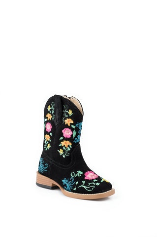 ROPER INFANT  BOOT WESTERN SQ TOE LEATHER FASHION BOOTS