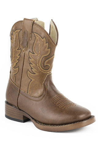 ROPER INFANT  BOOT WESTERN SQTOE FAUX LEATHR&SOLE BOOTS