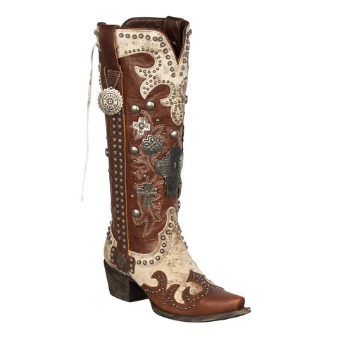 Double D Ranch Boots - Ammunition Textured Bone/Brown