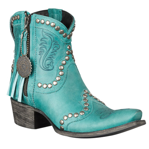 Double D Ranch Boots - Garcitas Half Pint Boot Turquoise