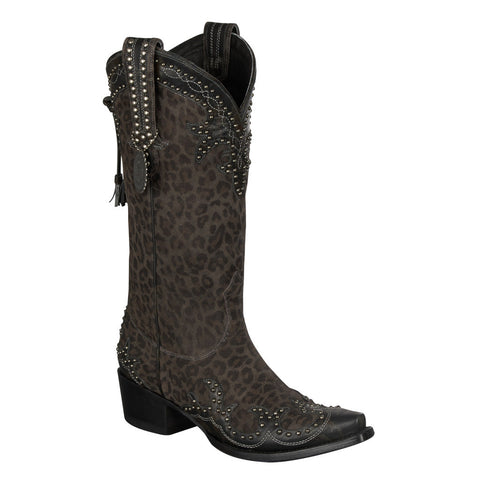 Double D Ranch Boots - Cheetah Chic Grey