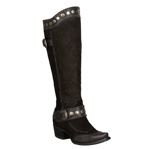 Double D Ranch Boots - Oregon Trail Black