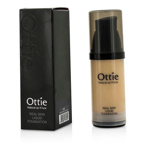 Ottie Real Skin Liquid Foundation #03 - Airless Bottle 30ml