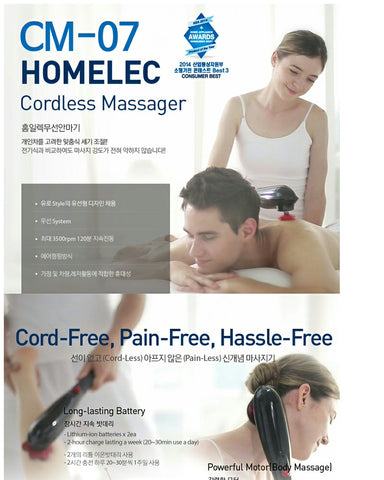 Homelec Cordless Percussion Massager CM-07