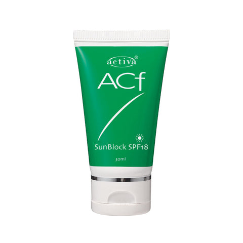 Activa ACF Sunblock SPF18 30ml [Exp: 11/2017]
