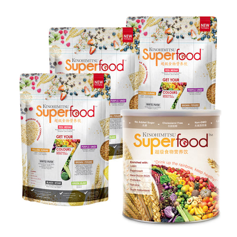 Superfood Refill Pack 500g x 3 - FREE Superfood Canister 500g x 1