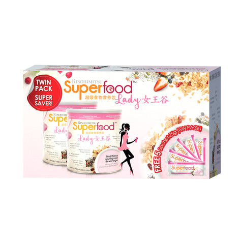 Superfood Lady 500g x 2 FREE Superfood Lady 5 Sachets [TWIN PACK]
