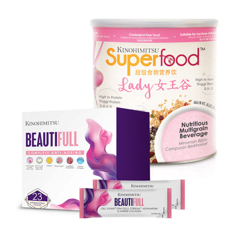 Beauty Inside Out : Superfood Lady 500g + Beautifull 15's