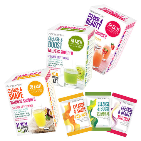Wellness Smooth'D Bundle Pack - Cleanse & Beauty 15's + Cleanse & Boost 15's + Cleanse & Shape 15's