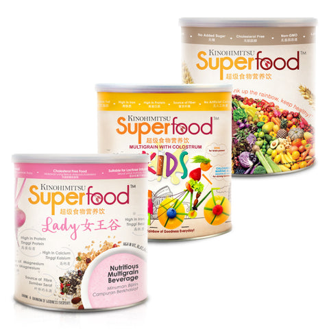Family Combo : Superfood 500g + Superfood Kids 500g + Superfood Lady 500g
