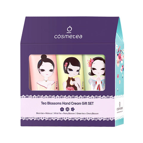 Cosmetea Tea Blossoms Hand Cream Gift Set (3 pcs)