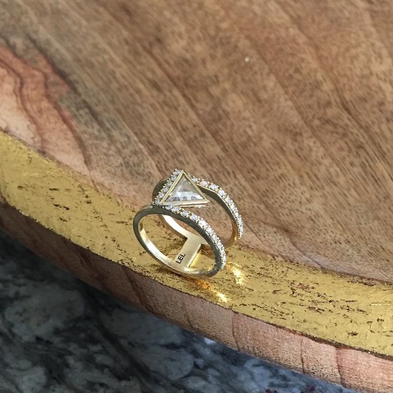 Custom Design Ring (Triangle Rose cut Pinky Ring)