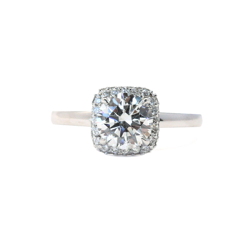 'Hanna' Diamond Halo Engagement Ring Setting