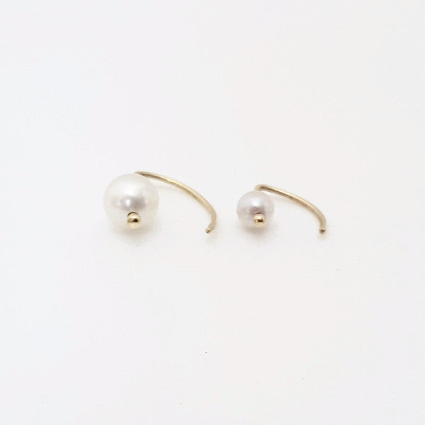 Ear Hook Pearl Earring - LEL JEWELRY  - 3