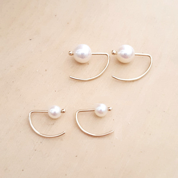 Ear Hook Pearl Earring - LEL JEWELRY