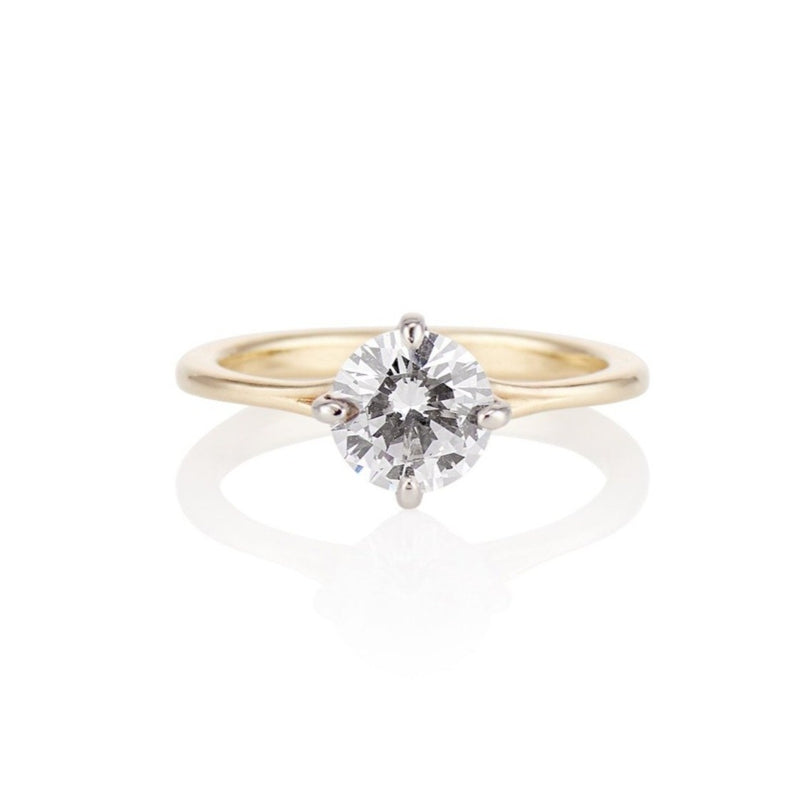 'Grace' Solitaire Four Prong Engagement Ring Setting