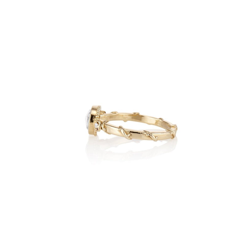 ROSE VINE Rose Cut Yellow gold Ring