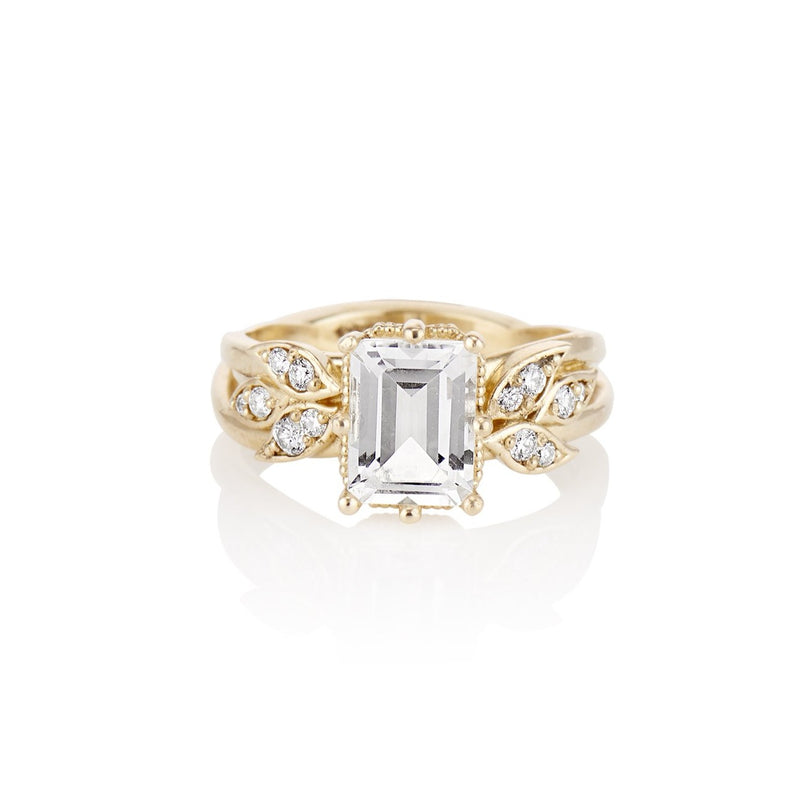 'Feathered Wing of Leaves' Gold Diamond Ring