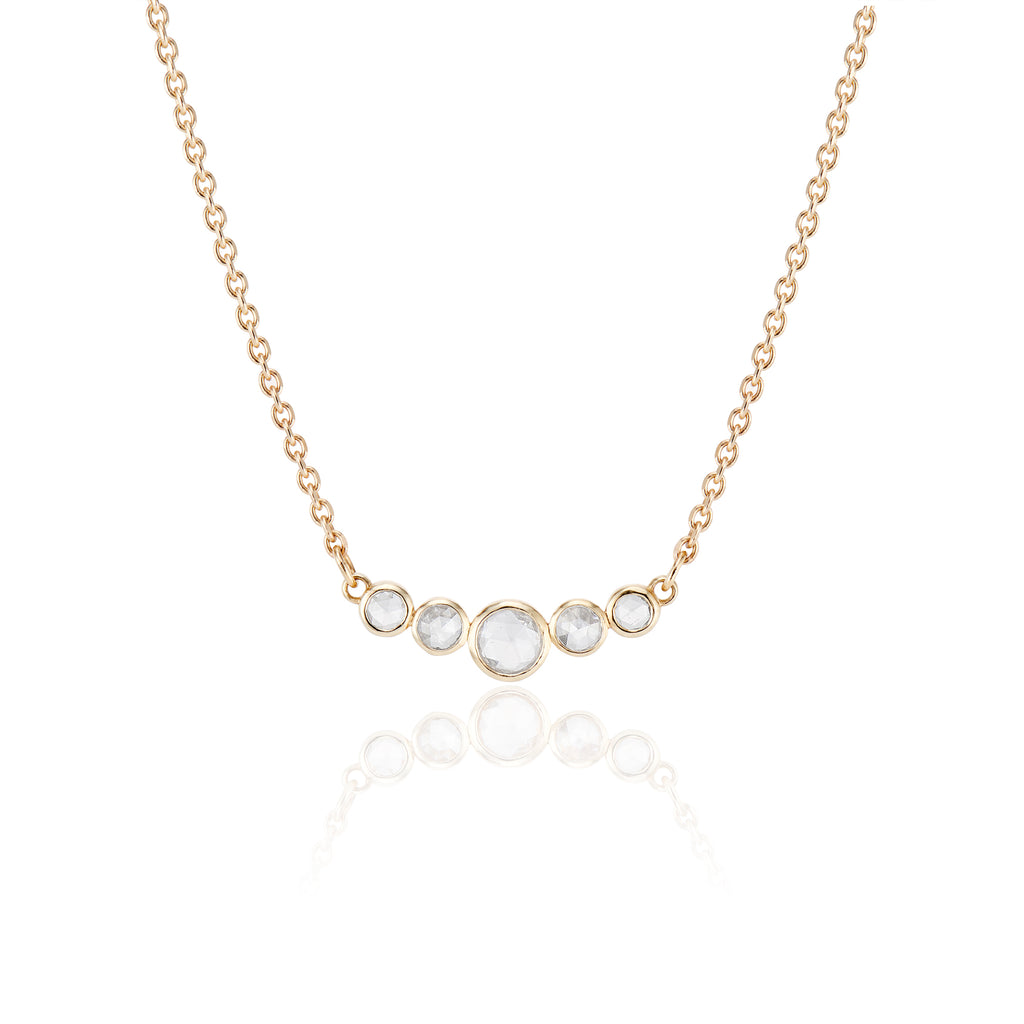 Five Rose cut Diamond Necklace - LEL JEWELRY