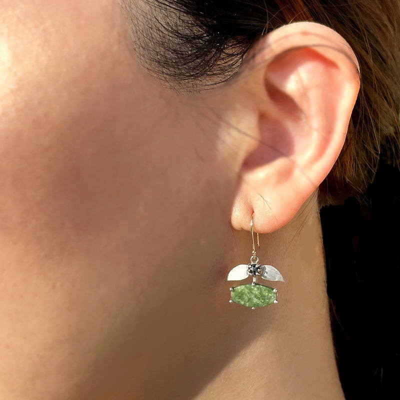Wyoming Jade Laurel Earrings