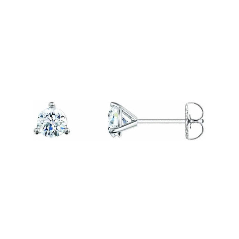 1ctw Three Prong Martini Diamond Studs