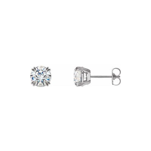 2ctw Diamond Studs Double Claw Prongs