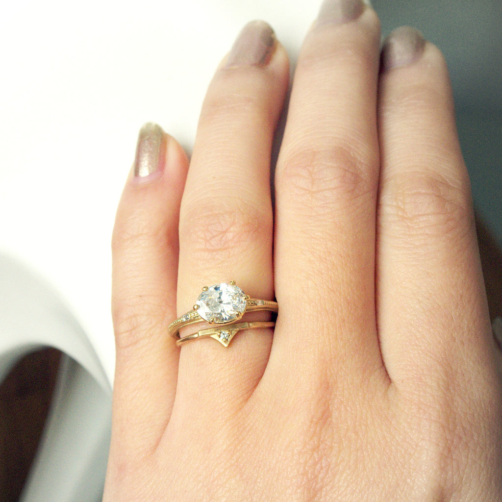 Regency Oval Ring and Regency Diamond Band Set