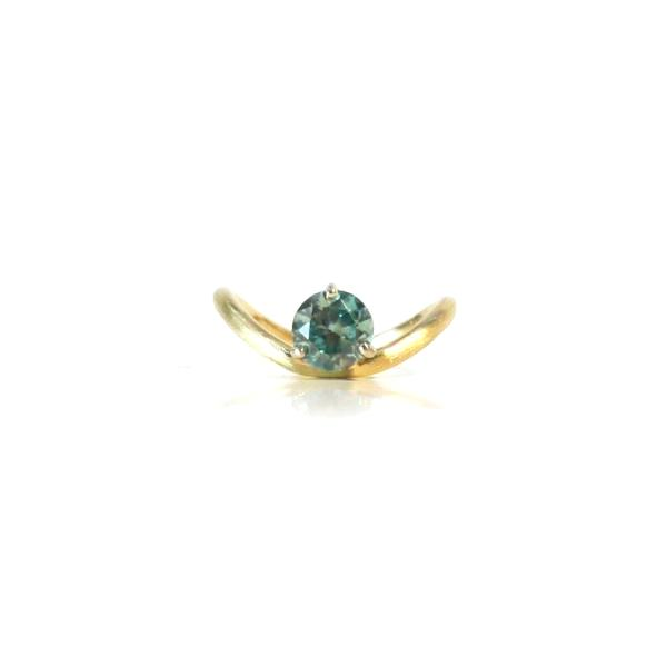 'Arc' Gold Zircon Ring