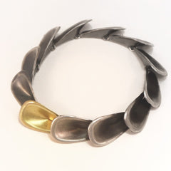 Petal Bracelet Silver and Gold - LEL JEWELRY  - 1