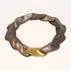 Petal Bracelet Silver and Gold - LEL JEWELRY  - 2