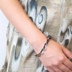 Petal Bracelet Silver and Gold - LEL JEWELRY  - 3