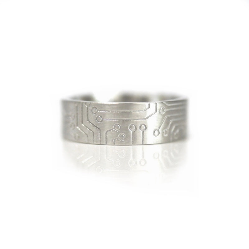 'Circuit Board' Men's Ring