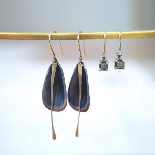 Petal Earrings Silver and Gold