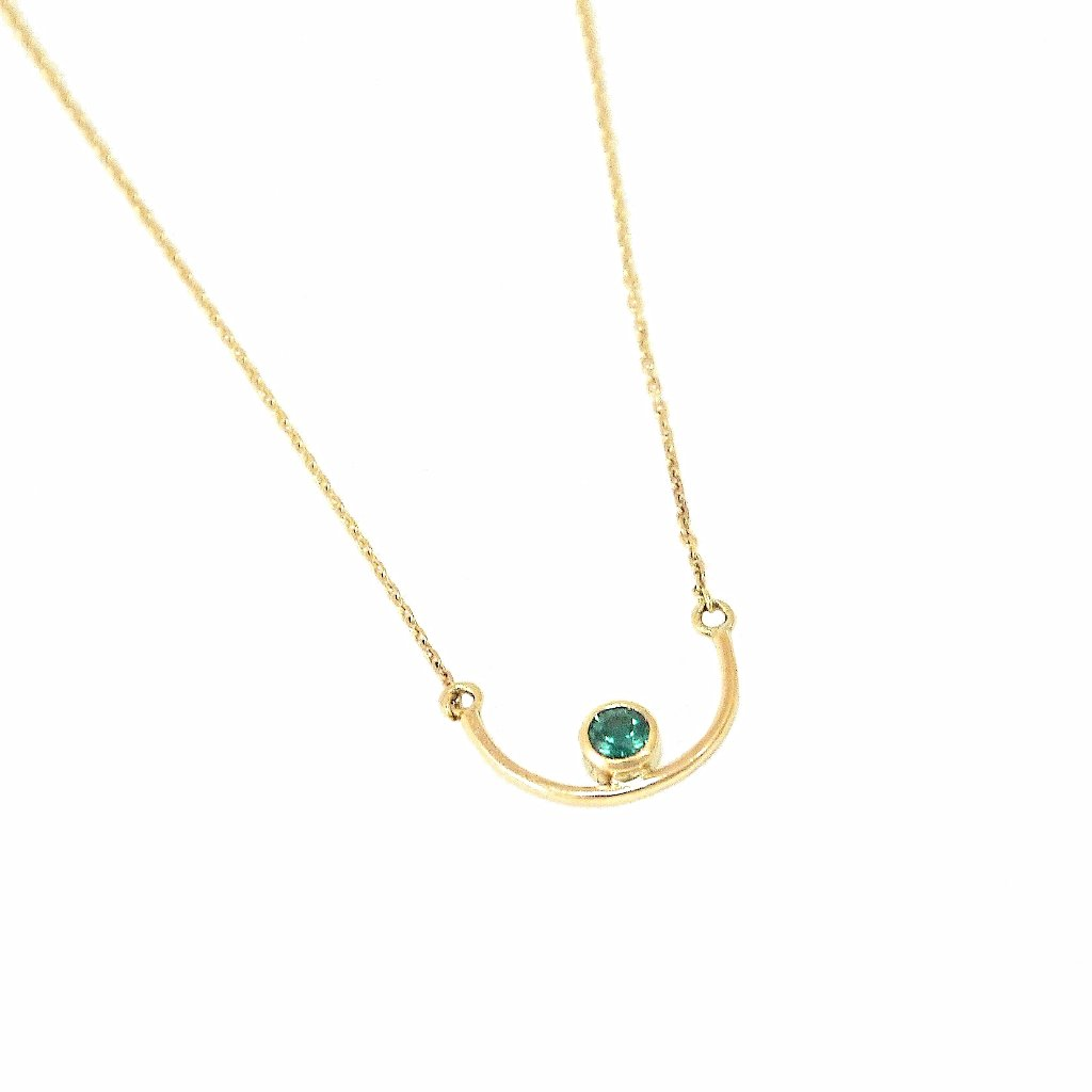 U Smile Gold Necklace - LEL JEWELRY  - 1
