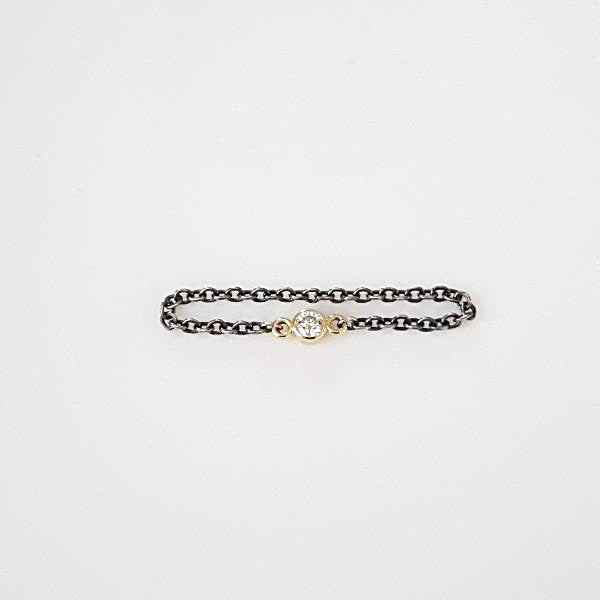 Diamond Chain Gold/Silver Ring