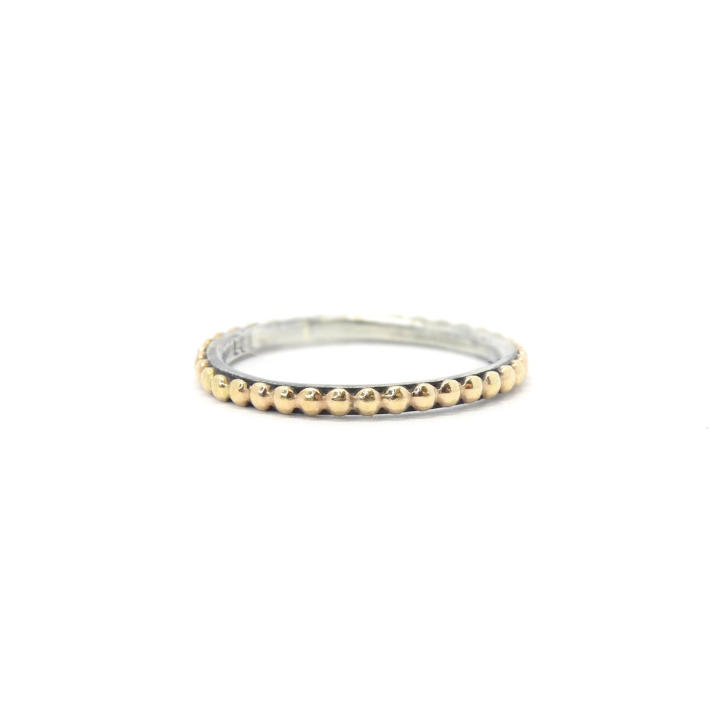 GOLDEN BEADS Two-tone Ring
