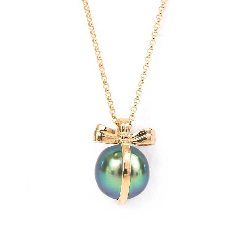 Put a Bow on It Tahitian Pearl 13mm