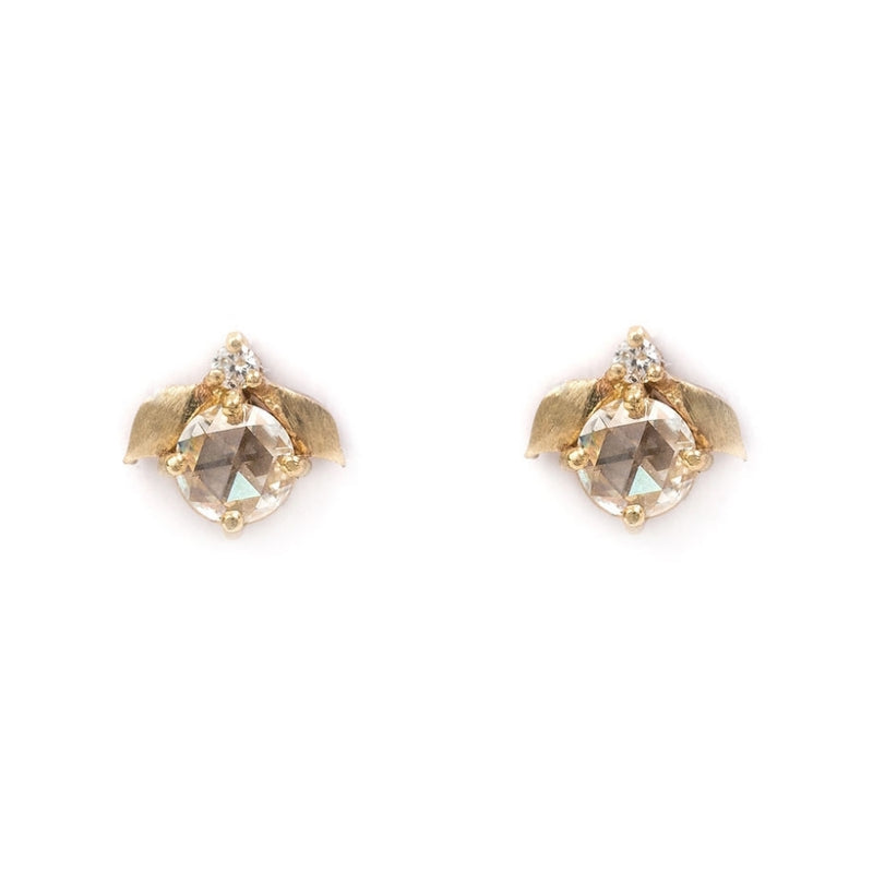 Laurel Rose cut Stud Earrings