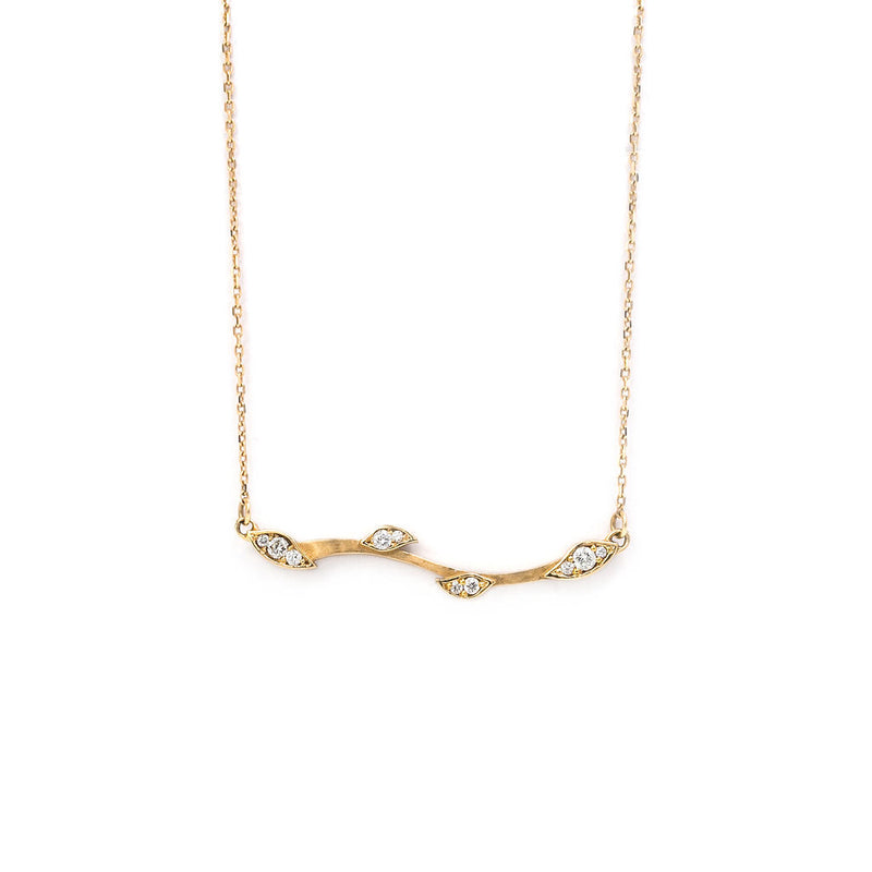 Leaf & Vine Diamond Necklace
