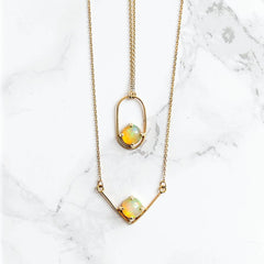 'O' Opal Necklace - LEL JEWELRY