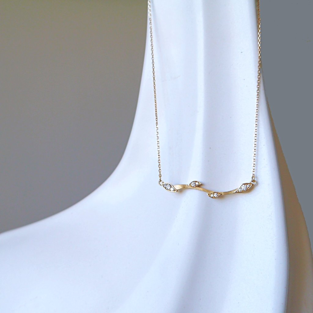 Leaf & Vine Diamond Necklace - LEL JEWELRY