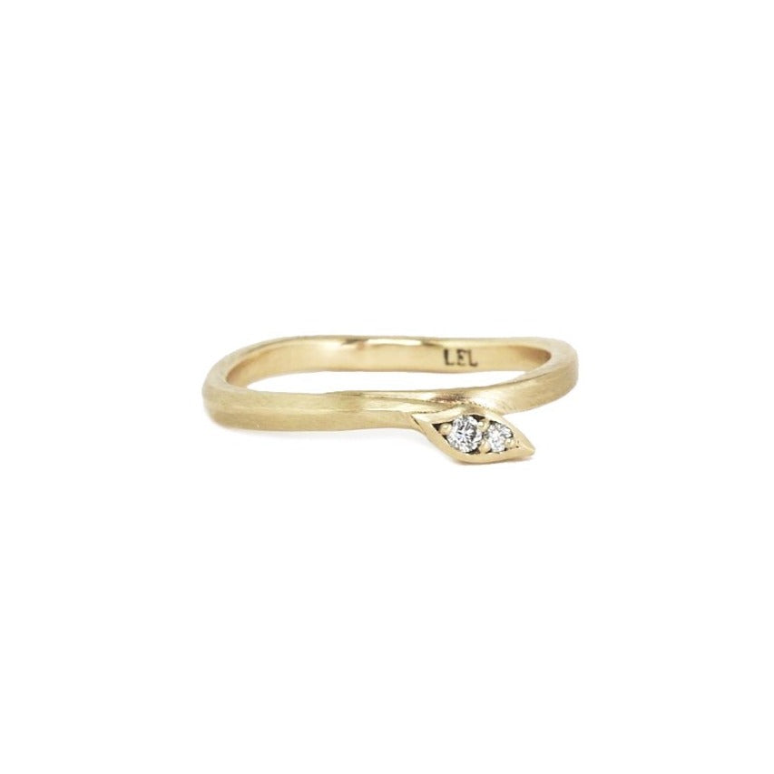 Leaf Wrap Diamond Ring