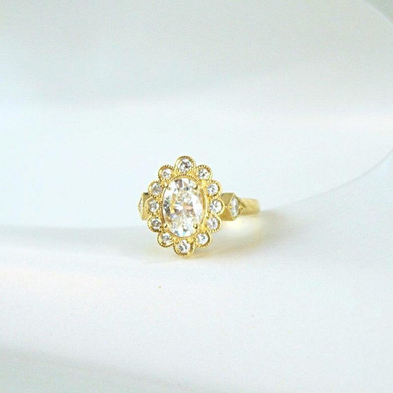 Oval Diamond Modern Heirloom