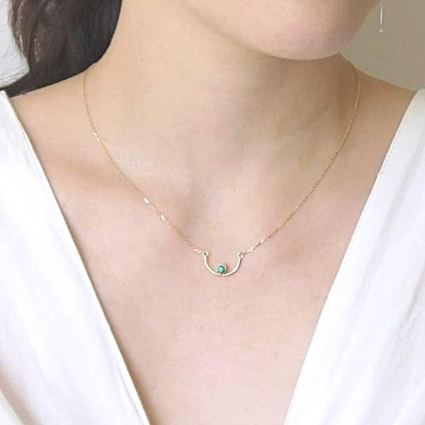 U Smile Gold Necklace - LEL JEWELRY  - 3