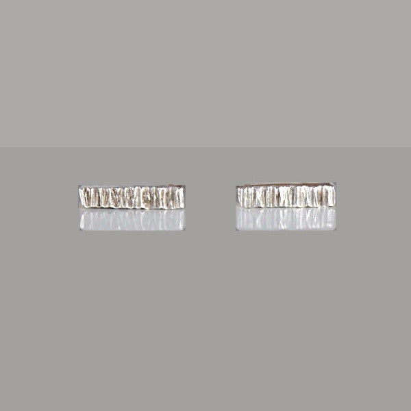 Birch Bar Earrings Silver