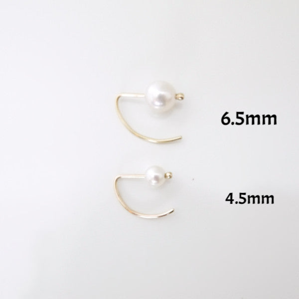 Ear Hook Pearl Earring - LEL JEWELRY  - 2